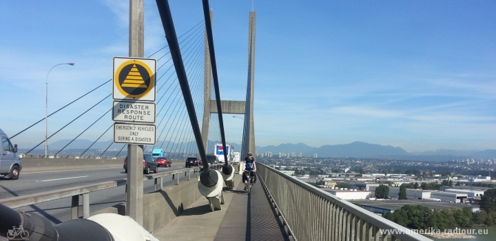 Radtour Vancouver - San Francisco: Alex Fraser Bridge