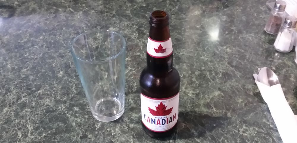 Beer of the day: Molson Canadian.