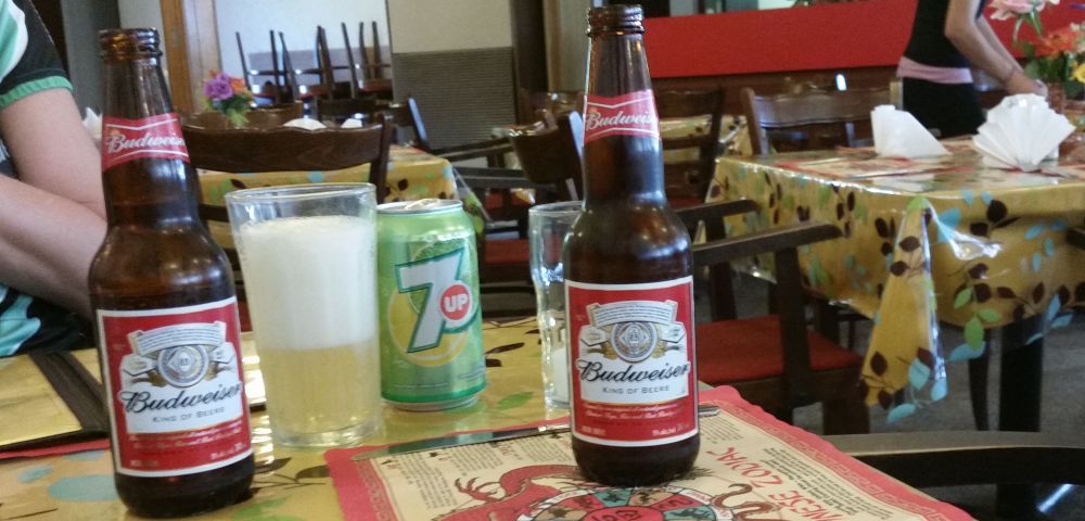 Beer of the day: Budweiser.