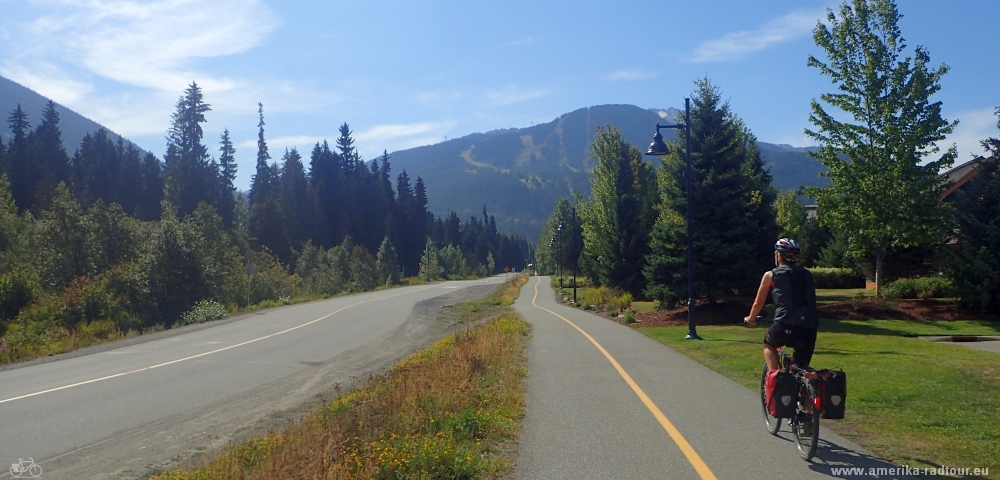 Cycling fromn Pamberton to Whistler.Sea to Sky Highway and Highway99 by bicycle.