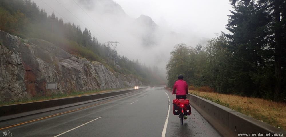 Cycling from Squamish to Vancouver. Sea to Sky Highway / Highway99 by bicycle.