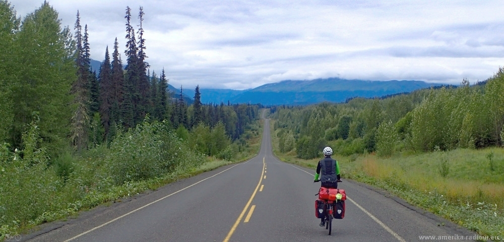 Cycling the Cassiar Highway.