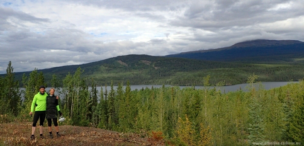 British Columbia and Yukon by bicycle: Cycling the Cassiar Highway northbound. Stage from Dease Lake to Jade City.