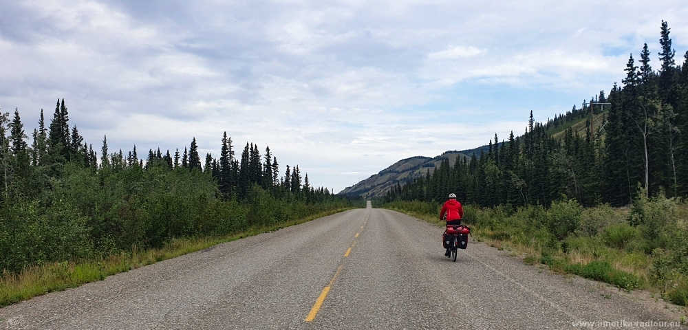 Cycling from Whitehorse to Anchorage.